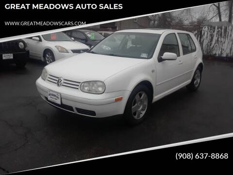2000 Volkswagen Golf for sale at GREAT MEADOWS AUTO SALES in Great Meadows NJ