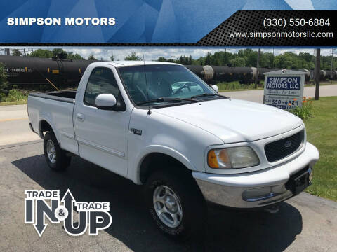 1997 Ford F-150 for sale at SIMPSON MOTORS in Youngstown OH
