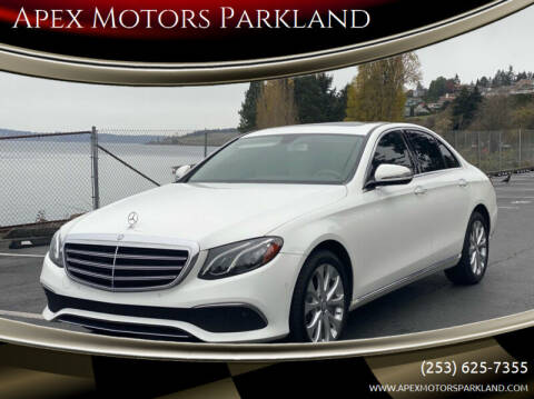 2017 Mercedes-Benz E-Class for sale at Apex Motors Parkland in Tacoma WA