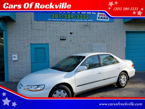 1998 Honda Accord for sale at Cars Of Rockville in Rockville MD