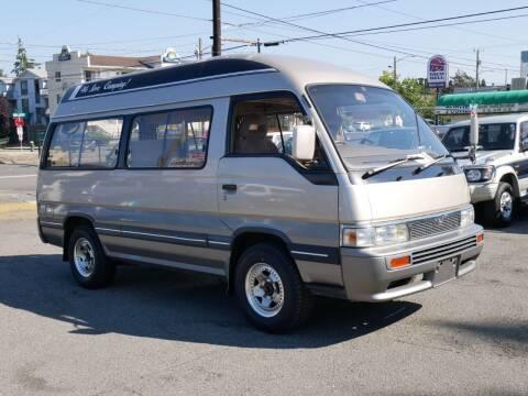 1991 Nissan Caravan Camper 4x4 t-Diesel for sale at JDM Car & Motorcycle LLC in Seattle WA