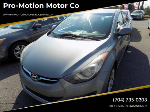 2013 Hyundai Elantra for sale at Pro-Motion Motor Co in Lincolnton NC