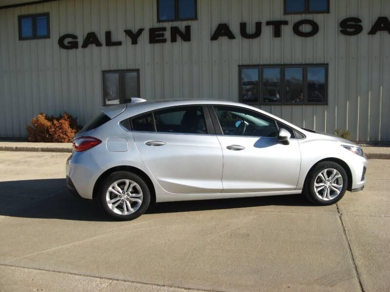 2019 Chevrolet Cruze for sale at Galyen Auto Sales Inc. in Atkinson NE
