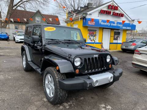 2008 Jeep Wrangler for sale at C & M Auto Sales in Detroit MI
