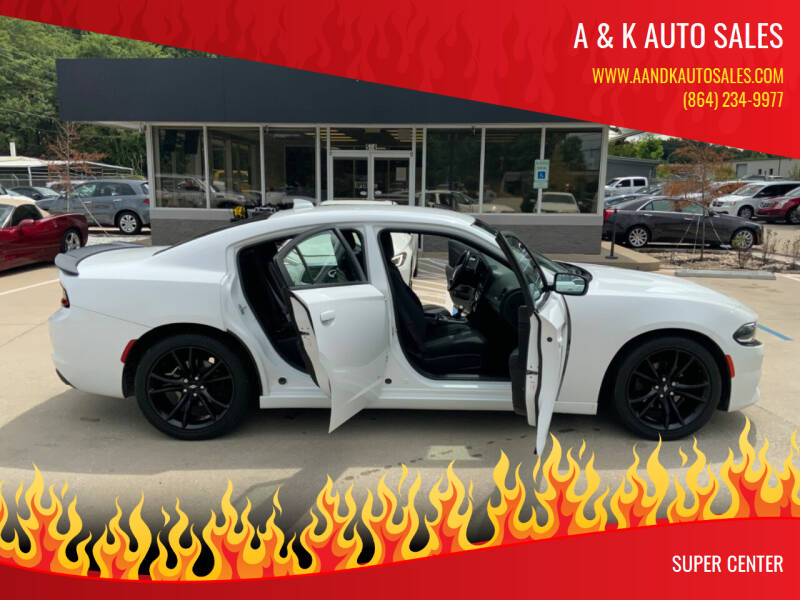2018 Dodge Charger for sale at A & K Auto Sales in Mauldin SC