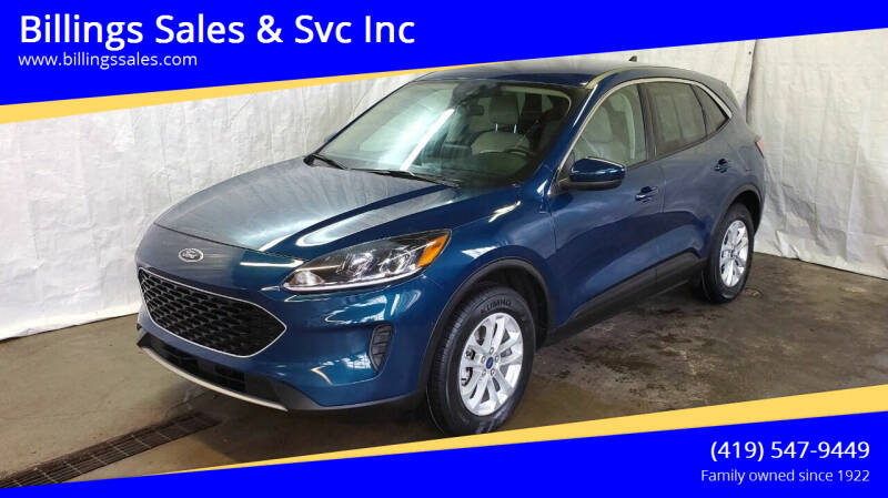 2020 Ford Escape for sale at Billings Sales & Svc Inc in Clyde OH