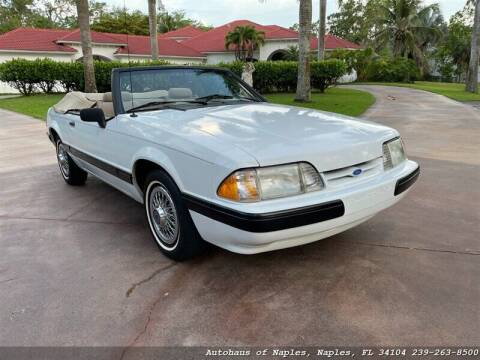 1989 Ford Mustang for sale at Autohaus of Naples Inc. in Naples FL