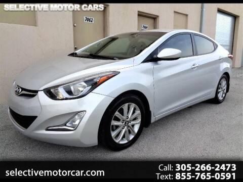 2015 Hyundai Elantra for sale at Selective Motor Cars in Miami FL