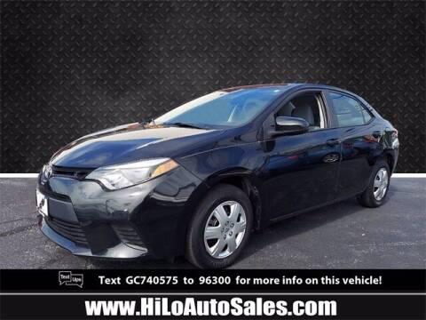 2016 Toyota Corolla for sale at Hi-Lo Auto Sales in Frederick MD