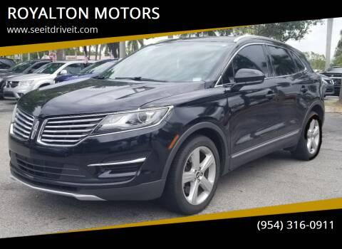2016 Lincoln MKC for sale at ROYALTON MOTORS in Plantation FL