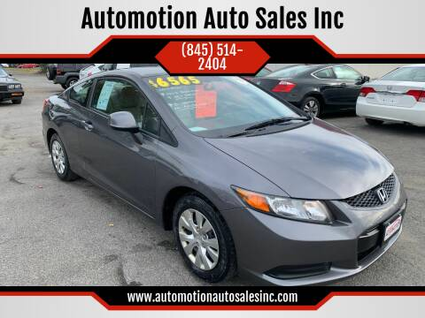 2012 Honda Civic for sale at Automotion Auto Sales Inc in Kingston NY