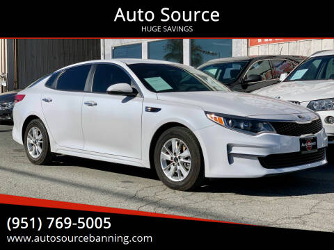 2016 Kia Optima for sale at Auto Source in Banning CA