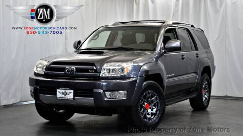 2004 Toyota 4Runner for sale at ZONE MOTORS in Addison IL