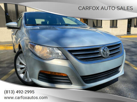 2011 Volkswagen CC for sale at Carfox Auto Sales in Tampa FL
