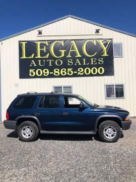 2003 Dodge Durango for sale at Legacy Auto Sales in Toppenish WA