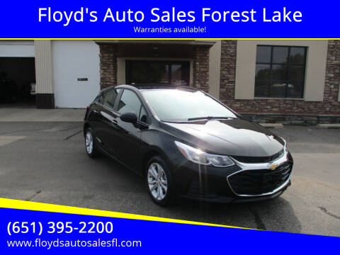 2019 Chevrolet Cruze for sale at Floyd's Auto Sales Forest Lake in Forest Lake MN