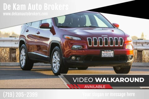 2015 Jeep Cherokee for sale at De Kam Auto Brokers in Colorado Springs CO