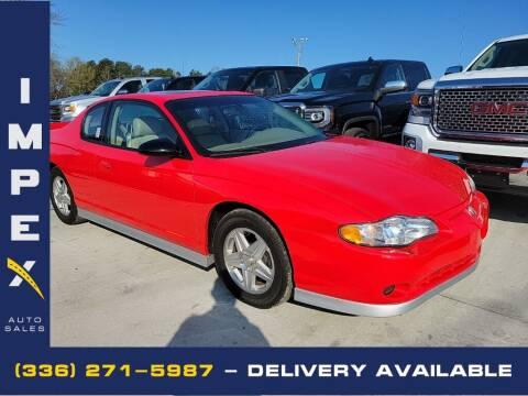 2001 Chevrolet Monte Carlo for sale at Impex Auto Sales in Greensboro NC