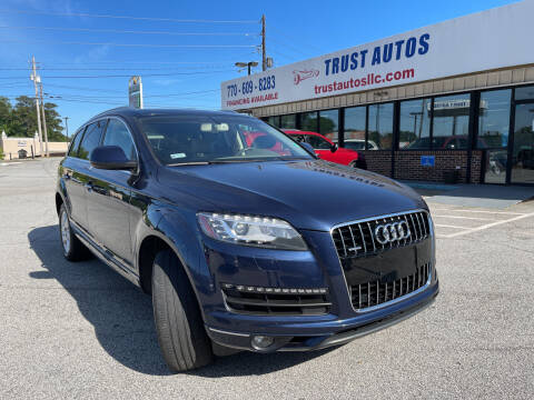 2015 Audi Q7 for sale at Trust Autos, LLC in Decatur GA
