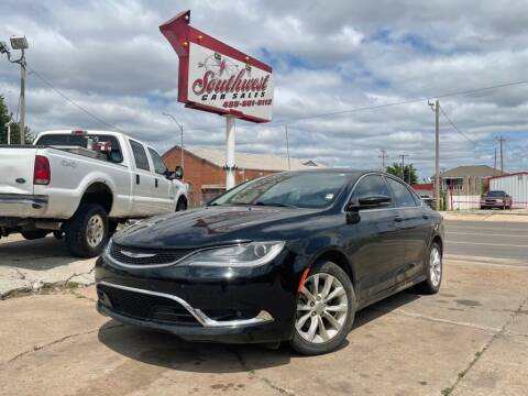 2015 Chrysler 200 for sale at Southwest Car Sales in Oklahoma City OK