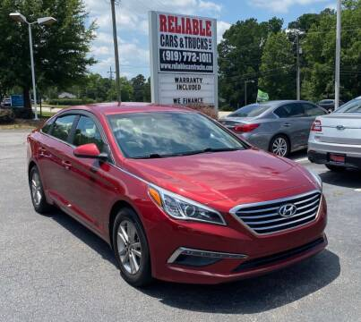 2015 Hyundai Sonata for sale at Reliable Cars & Trucks LLC in Raleigh NC