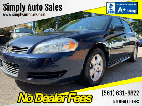 2009 Chevrolet Impala for sale at Simply Auto Sales in Palm Beach Gardens FL