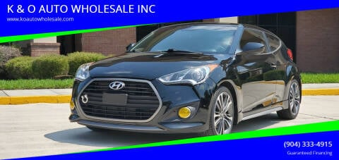 2016 Hyundai Veloster for sale at K & O AUTO WHOLESALE INC in Jacksonville FL