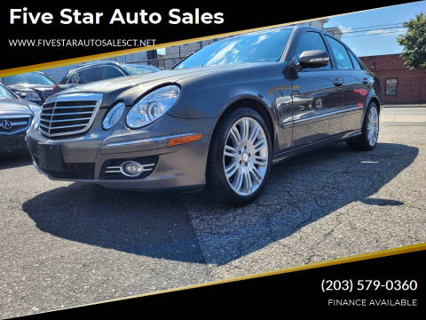 2008 Mercedes-Benz E-Class for sale at Five Star Auto Sales in Bridgeport CT