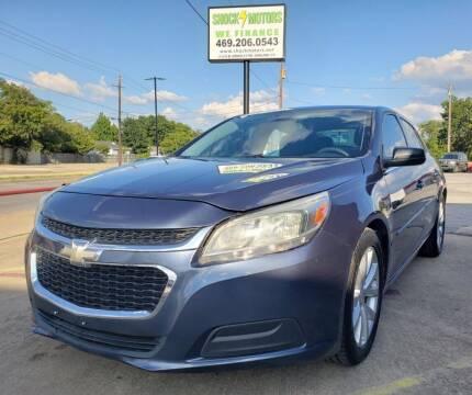 2014 Chevrolet Malibu for sale at Shock Motors in Garland TX