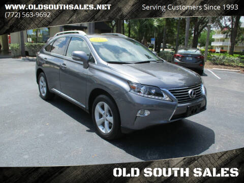 2013 Lexus RX 350 for sale at OLD SOUTH SALES in Vero Beach FL