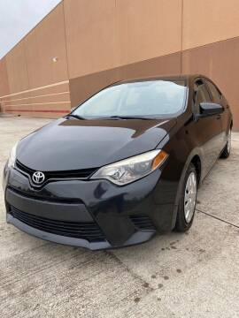 2014 Toyota Corolla for sale at ALL STAR MOTORS INC in Houston TX