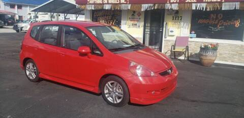 2007 Honda Fit for sale at ANYTHING ON WHEELS INC in Deland FL