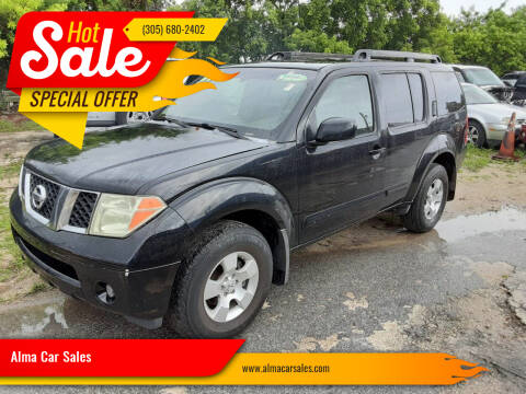 2007 Nissan Pathfinder for sale at Alma Car Sales in Miami FL