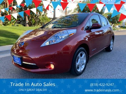 2011 Nissan LEAF for sale at Trade In Auto Sales in Van Nuys CA