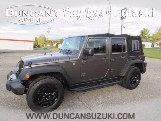 2016 Jeep Wrangler Unlimited for sale at DUNCAN SUZUKI in Pulaski VA