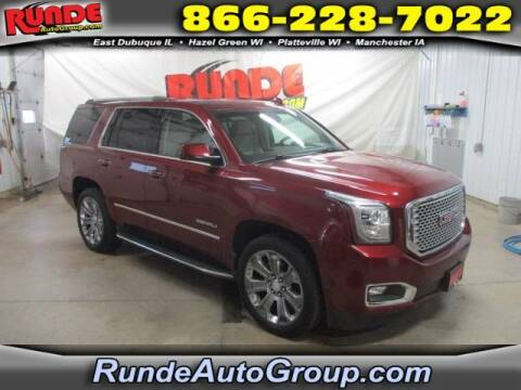 2016 GMC Yukon for sale at Runde Chevrolet in East Dubuque IL
