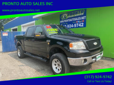 2006 Ford F-150 for sale at PRONTO AUTO SALES INC in Indianapolis IN