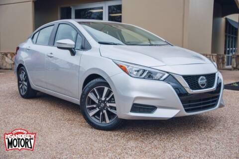 2020 Nissan Versa for sale at Mcandrew Motors in Arlington TX