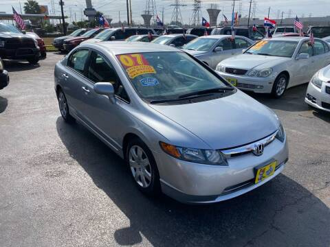 2007 Honda Civic for sale at Texas 1 Auto Finance in Kemah TX