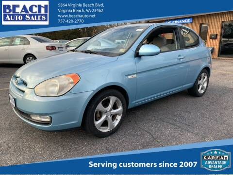 2008 Hyundai Accent for sale at Beach Auto Sales in Virginia Beach VA