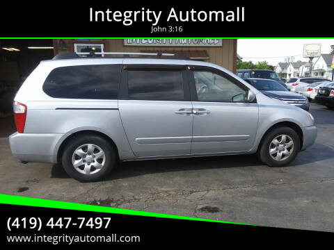 2007 Kia Sedona for sale at Integrity Automall in Tiffin OH