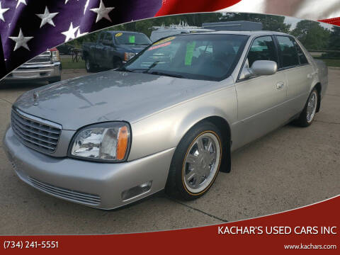 2005 Cadillac DeVille for sale at Kachar's Used Cars Inc in Monroe MI