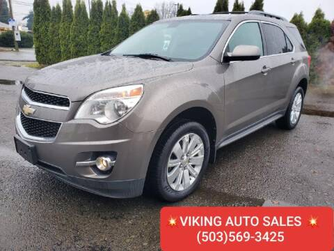 2011 Chevrolet Equinox for sale at VIking Auto Sales LLC in Salem OR