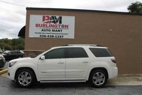 2014 GMC Acadia for sale at Burlington Auto Mart in Burlington NC
