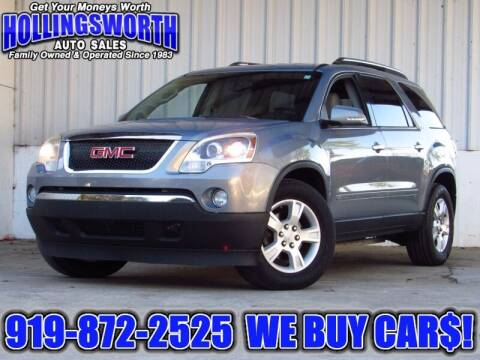 2008 GMC Acadia for sale at Hollingsworth Auto Sales in Raleigh NC
