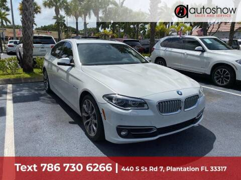 2014 BMW 5 Series for sale at AUTOSHOW SALES & SERVICE in Plantation FL