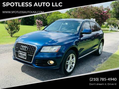 2014 Audi Q5 for sale at SPOTLESS AUTO LLC in San Antonio TX