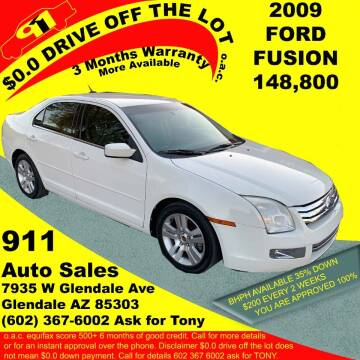 2009 Ford Fusion for sale at 911 AUTO SALES LLC in Glendale AZ