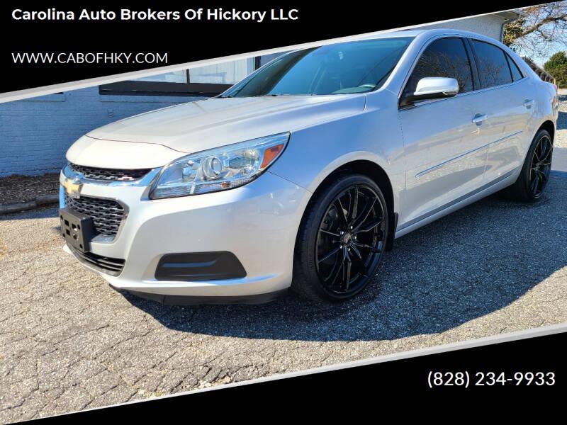 2015 Chevrolet Malibu for sale at Carolina Auto Brokers of Hickory LLC in Newton NC