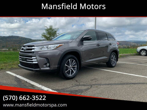 2018 Toyota Highlander for sale at Mansfield Motors in Mansfield PA
